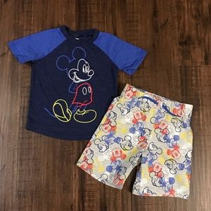 Kids Disney Junior Mickey 3T PJ Shorts & T-Shirt